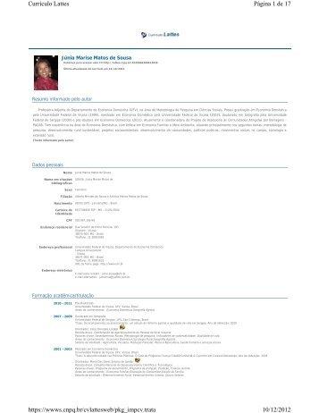 Página 1 de 17 Currículo Lattes 10/12/2012 https://wwws.cnpq.br ...