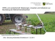 WRRL und Landwirtschaft: Belastungen, Ursachen und Indikatoren ...