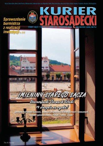 nr 167/168 sierpień 2006 - Kurier Starosądecki