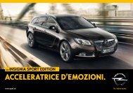 ACCELERATRICE D'EMOZIONI. - Opel