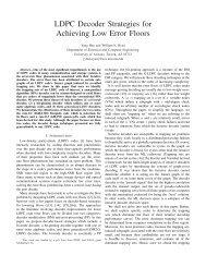 LDPC Decoder Strategies for Achieving Low Error ... - ITA @ UCSD