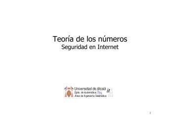 Tema 4. Teoría de los Números - it/aut/UAH