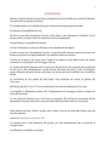 Appunti delle lezioni del Prof. Cofano - Lettere e filosofia