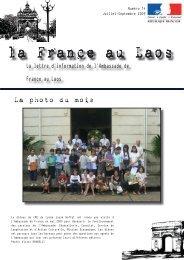 la France au Laos la France au Laos - Ambassade de France au Laos