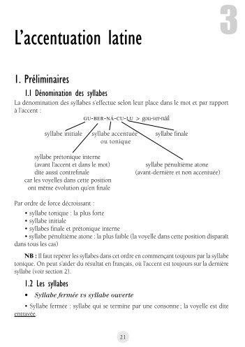 L'accentuation latine - Tic et nunc