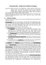 Protokoll ANÄ – Treffen 22.10.2005 in Freiburg