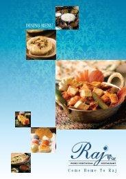 DINING MENU - Raj Restaurant