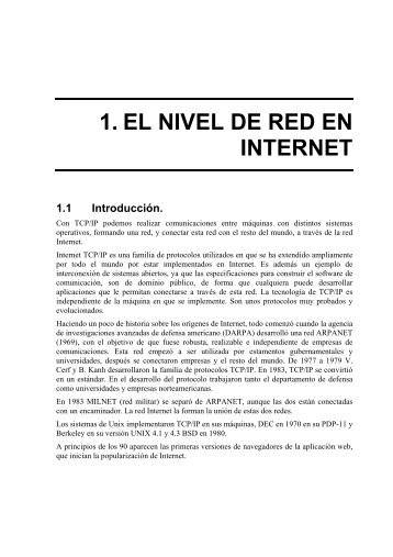 1. EL NIVEL DE RED EN INTERNET - it/aut/UAH