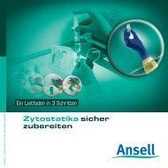 Sicheres Arbeiten mit Zytostatika - Ansell Healthcare Europe