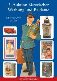 2. Auktion historischer Werbung und Reklame - Antico  Mondo