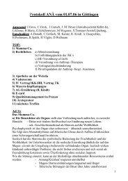 Protokoll ANÄ vom 01.07.06 in Göttingen