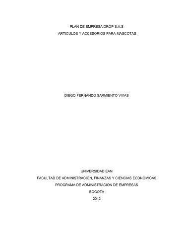 plan de empresa drop sas articulos y accesorios ... - Universidad EAN