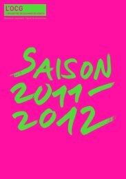 Saison 2011 - 2012 - L'Orchestre de Chambre de Genève
