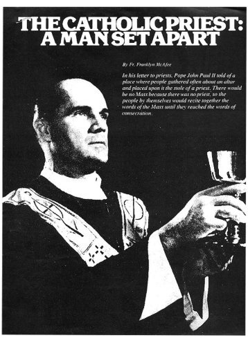 A Man Set Apart – Rev. Franklyn McAfee - Garabandal
