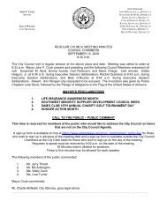 REGULAR COUNCIL MEETING MINUTES ... - City of El Paso