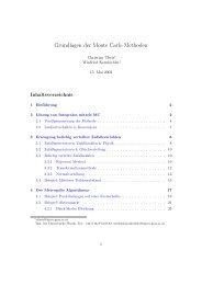 Grundlagen der Monte Carlo Methoden - TU Graz - Institut für ...