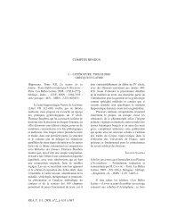 Comptes rendus Tome 111, 2009 - N°2 - Revue des Etudes ...