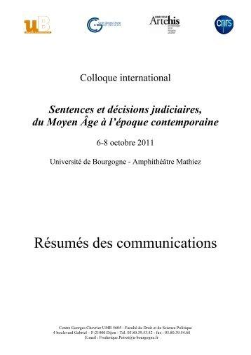 Télécharger les résumés des communications au format pdf