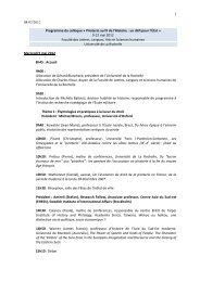 1 08/03/2012 Programme du colloque « Piraterie au fil de l'Histoire ...