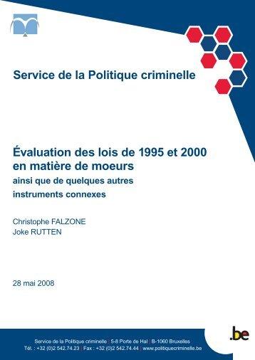 Service de la Politique criminelle Évaluation des lois de 1995 et ...