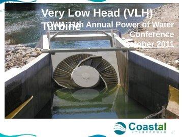 Very Low Head (VLH) Turbine - Ontario Waterpower Association