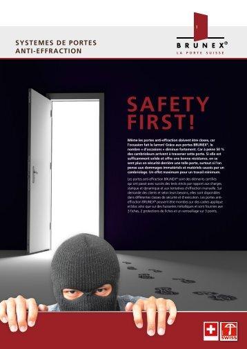 systemes de portes anti-effraction - Brunex