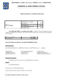 COMMUNE de SAINT-PIERRE d'AUTILS - Réseau des Communes