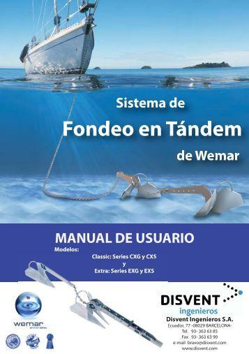 Manual de usuario Wemar - Disvent Ingenieros