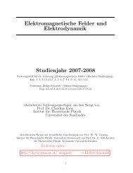 Elektromagnetische Felder und Elektrodynamik Studienjahr 2007 ...