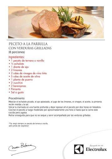 PECETO A LA PARRILLA con verduras grilladas - Electrolux