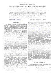 Microscopic model for transitions from Mott to spin-Peierls insulator ...