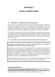 CAPITULO 7 PLAN A LARGO PLAZO - Ministerio de Transportes y ...