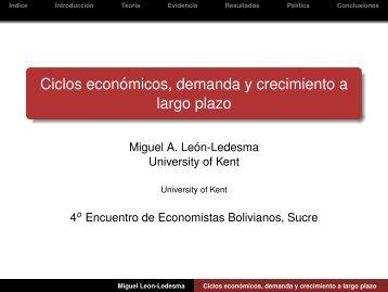 ciclos económicos, demanda y crecimiento a largo plazo