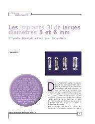 Les implants 3i de larges diamètres 5 et 6 mm - Information dentaire