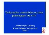 Indications DAI - Collège Français de Stimulation Cardiaque