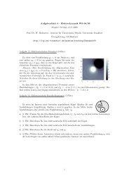 Aufgabenblatt 4 - Elektrodynamik WS 08/09 Abgabe: Freitag, 14.11 ...