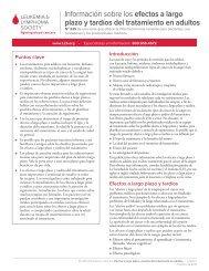 efectos a largo plazo y tardíos del tratamiento en adultos