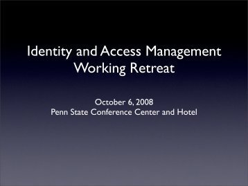 IAM Update and Retreat Kick-off - Information Technology Services