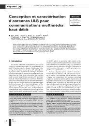 Conception et caractérisation d'antennes ULB pour ... - Ensta