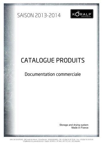 CATALOGUE PRODUITS - Koralp