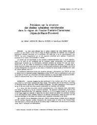 Précisions sur la structure des chaînes subalpines méridionales ...
