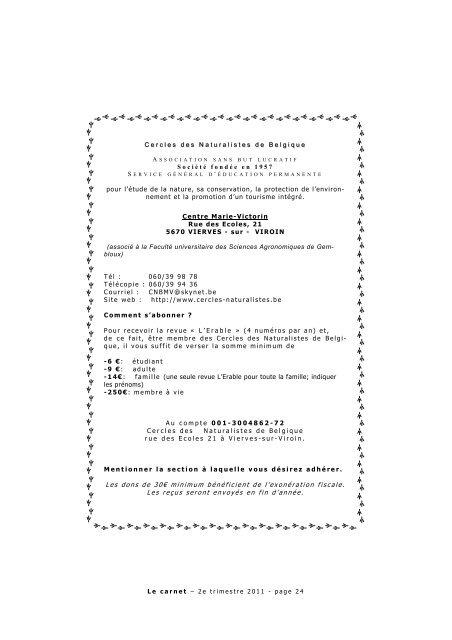 A lire - La Trientale-CNB