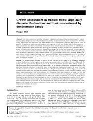 Growth assessment in tropical trees: large daily diameter ...