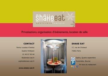 Télécharger le fichier pdf - Shake Eat