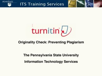 2010 Turnitin Overview PowerPoint in PDF - Teaching and Learning ...