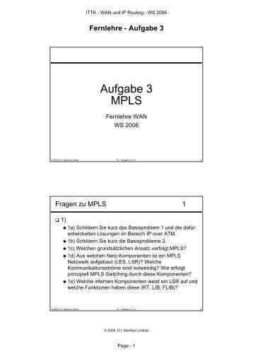 Aufgabe 3 MPLS