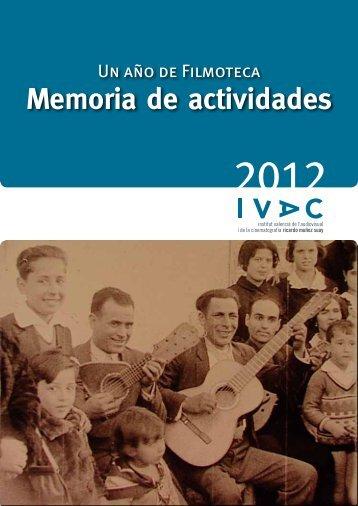 Memoria de actividades - IVAC - Generalitat Valenciana