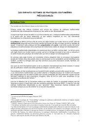 pratiques coutumières préjudiciables - Institut international des ...