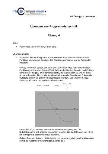 Übungen aus Programmiertechnik