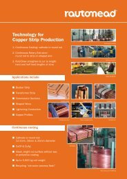 Technology for Copper Strip Production